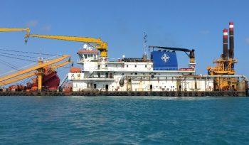 Dredger on site at Lamu Port
