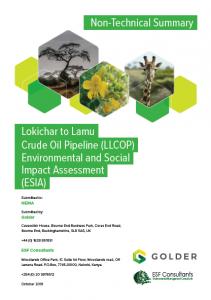Crude Oil Pipeline ESIA Executive Summary (2019)